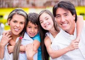 Whittier Dental smiling family