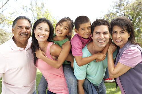 Whittier Hispanic Family at Dentist