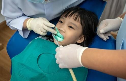 Flouride Treatment for Asian Girl